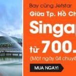 Jetstar khuyến mãi vé đi Singapore 700k
