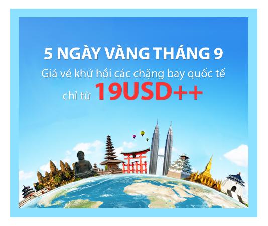 Hình ảnh Vietnam Airlines khuyến mãi 5 ngày vàng vé 19 USD