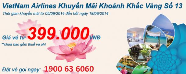 Hình ảnh Vietnam Airlines khuyến mãi vé 399k