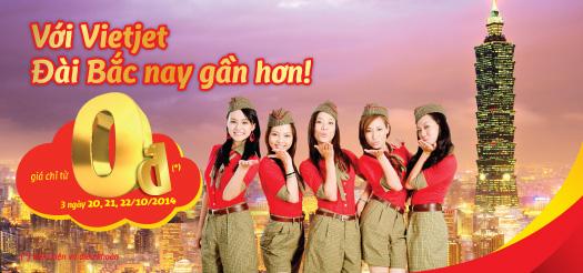 Hình ảnh Vietjet khuyến mãi 3.000 vé đi Đài Bắc giá 0 đồng