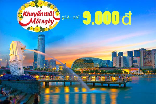 Hình ảnh Vietjet khuyến mãi vé TP. HCM đi Singapore giá chỉ 9.000 đồng