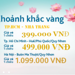 Vietnam Airlines khuyến mãi vé 399.000 khoảnh khắc vàng số 15
