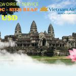 Vietnam Airlines khuyến mãi vé khứ hồi đi Siem Reap 63 USD