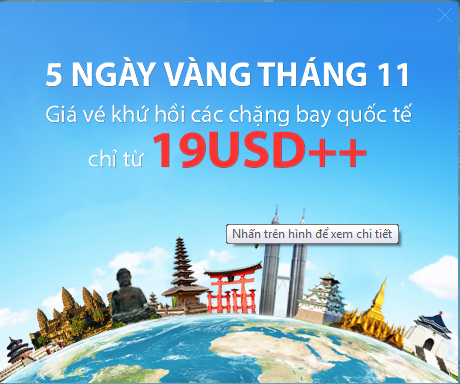 Hình ảnh Vietnam Airlines tung vé máy bay khuyến mãi tháng 11 chỉ 19 USD