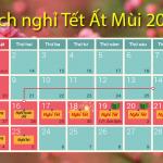 Tết Ất Mùi 2015 chính thức được nghỉ 9 ngày