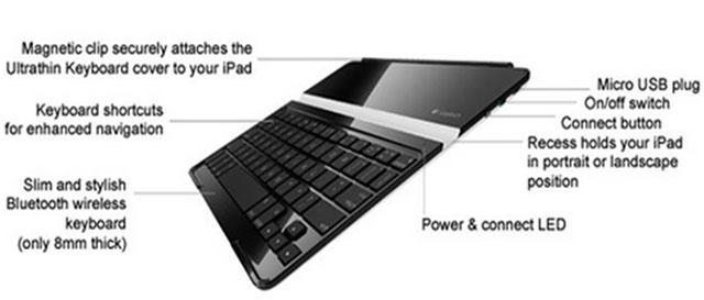 Hình ảnh bàn phím cho iPad Logitech Ultrathin Keyboard Cover