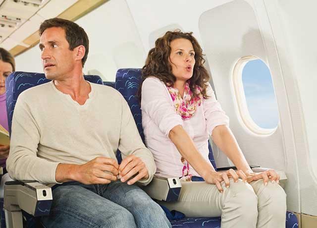 Hình ảnh để xua tan nỗi sợ khi đi máy bay