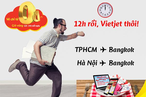 Vé máy bay đi Bangkok chỉ từ 0 đồng